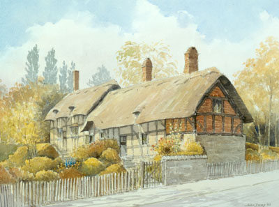 SAnne Hathway's Cottage - a watercolour by John Davis ©