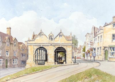 Chipping Campden Market Hall - a watercolour by