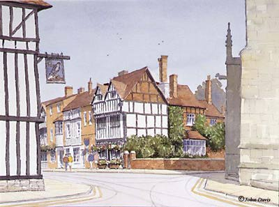 New Place (viewed from The Guild) - A Watercolour by John Davis ©