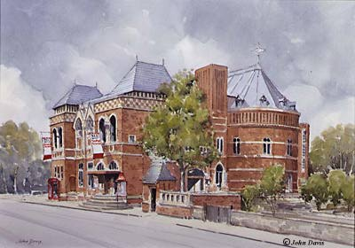 R.S.C. - Swan Theatre & Library - a watercolour by John Davis ©