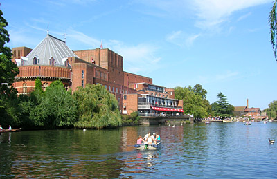 Royal Shakespeare Theatre and River Avon, Stratford-upon-Avon