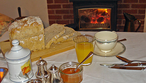 A Freshly Baked Bread Breakfast at Apothecarys B&B