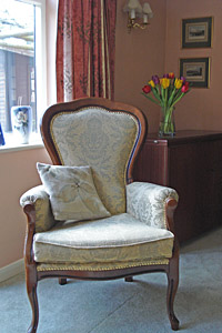 Lounge Chair at The Apothecary's B&B, Wellesbourne